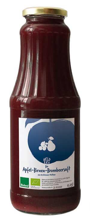 große Flasche Birnebrombeer