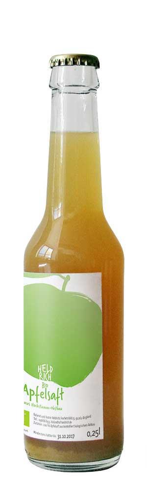kleine Flasche Apfelsaft