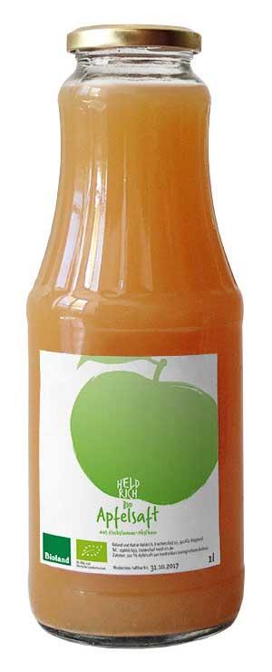 große Flasche Apfelsaft